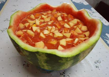Salpicão de melancia