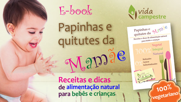 Site Vida Campestre lança E-BOOK: Papinhas e Quitutes da Mamãe – 100% vegetal, integral e natural