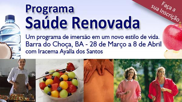 Barra do Choça – BA | 29 de março a 8 de abril – Programa Saúde Renovada